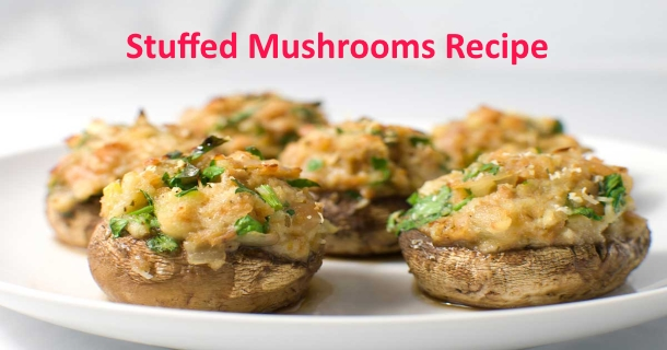Stuffed Mushrooms Recipe in Hindi
